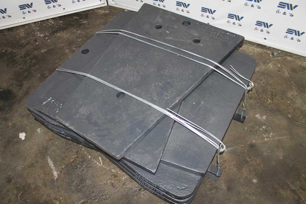 Комплект боковых футеровок для дробилки С125 (2)