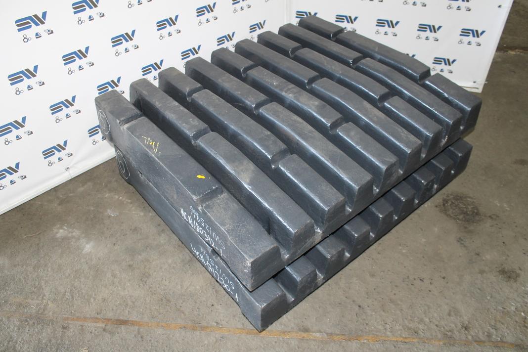 Комплект неподвижных плит 220mm для дробилки С125