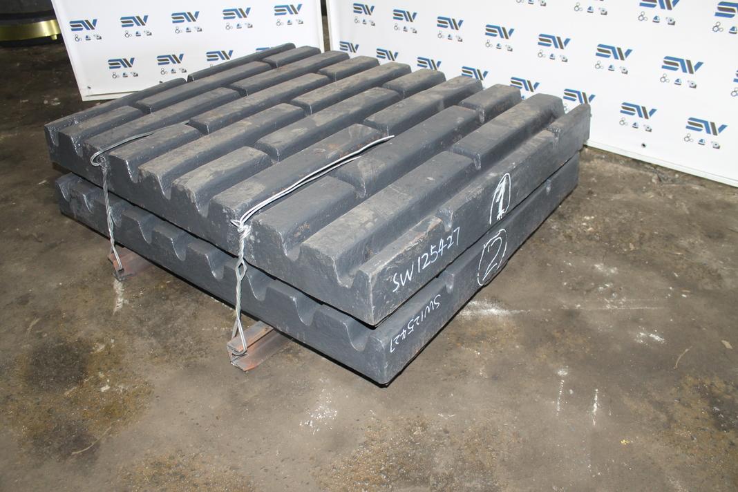 Комплект подвижных плит для дробилки С125